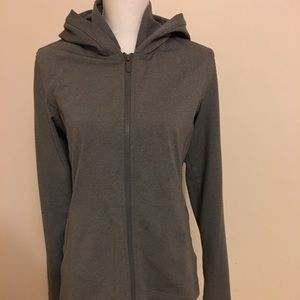 Lululemon Scuba Gray Full Zip Gym Hoodie Jacket 8